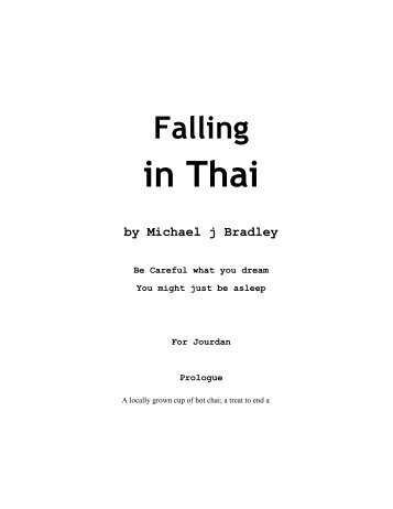 Falling in Thai by Michael j Bradley - Gadabout Life