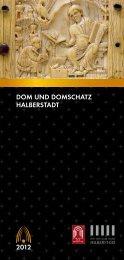 Jahresprogramm der Domschätze Halberstadt und Quedlinburg 2012