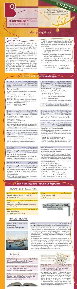 finden Sie das aktuelle Programm 2012/13 - Katholische ...
