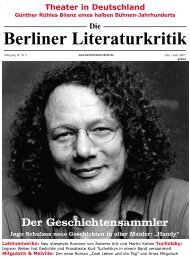Die Berliner Literaturkritik