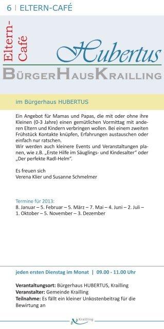 Veranstaltungsprogramm 2013 - Gemeinde Krailling