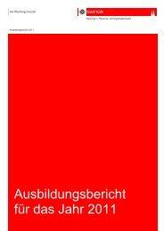 Ausbildungsbericht für das Jahr 2011 - Stadt Köln
