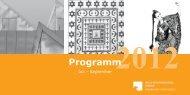 Event Programm of the Trimester 03/2012 - Ibero-Amerikanisches ...