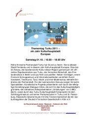 Thementag Turku 2011- Flyer - Kultur aus Finnland in Deutschland