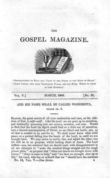 March - The Gospel Magazine