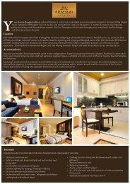 Facilities - Admiral Premier Bangkok