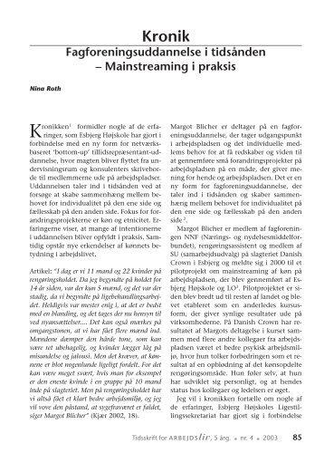 Kronik Fagforeningsuddannelse i tidsånden - Nyt om Arbejdsliv