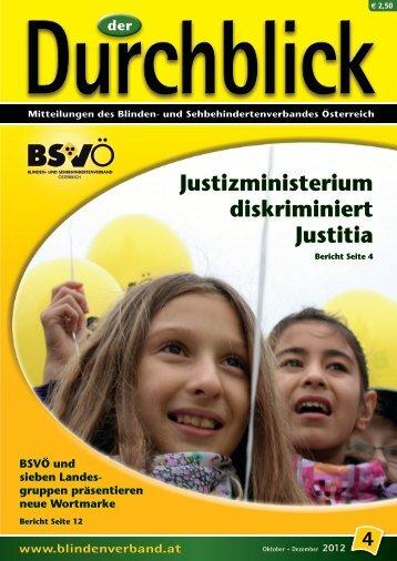 Durchblick - BSVÖ - Blinden- und Sehbehindertenverband Österreich
