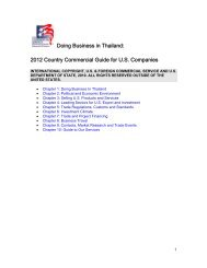 Doing Business in Thailand - Export.gov