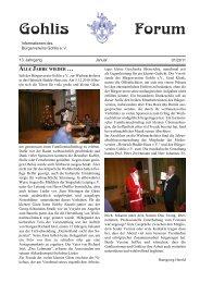 Gohlis-Forum 01/2011 - Bürgerverein Gohlis eV