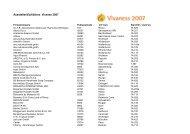 Aussteller/Exhibitors Vivanes 2007 - Vivaness