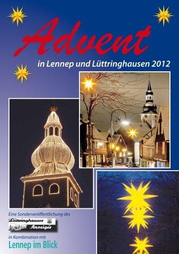 Advent in Lennep und Lüttringhausen - Lüttringhauser Anzeiger