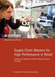 Supply Chain Mastery for High Performance in Retail