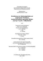 Ermittlung von Optimalgehalten an organischer Substanz