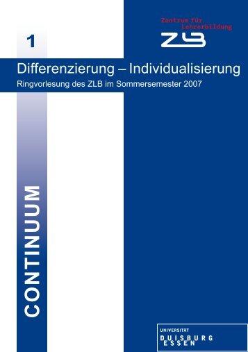 C O N T IN U U M - bei DuEPublico - Universität Duisburg-Essen