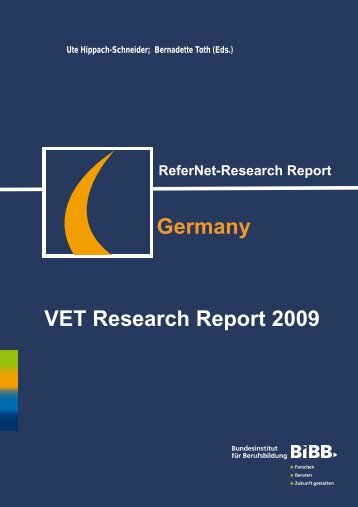 Transitions and Research on Transitions in VET - ReferNet Germany