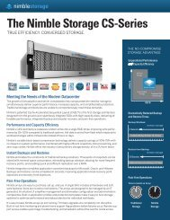The Nimble Storage CS-Series - LB-systems