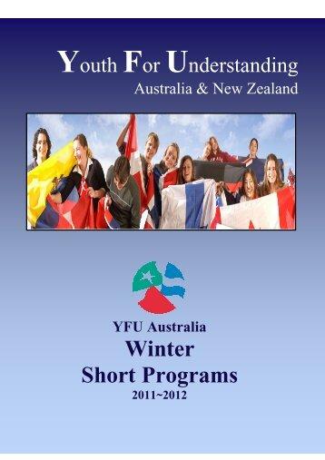 Winter Short Programs - YFU Australia