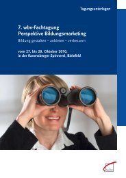 7. wbv-Fachtagung Perspektive Bildungsmarketing - 9. wbv ...