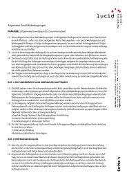 Allgemeine Geschäftsbedingungen - lucid - Marketing + Design