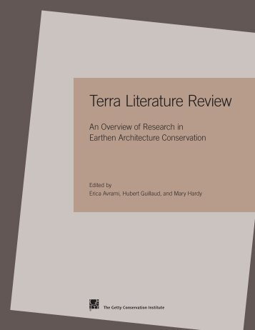 Terra Literature Review: An Overview of Research in ... - The Getty