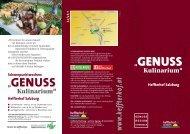Regionale kulinarische Genüsse - Heffterhof Salzburg