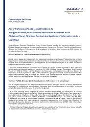 Accor Services annonce les nominations de Philippe Maurette ...