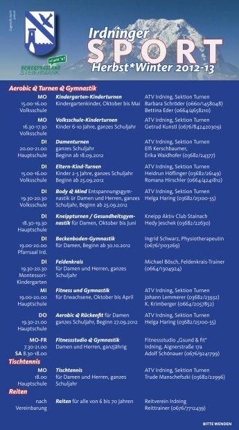 SPORT Irdninger Herbst*Winter 2012-13