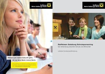 Leitfaden - Salzburger Schulsponsoring