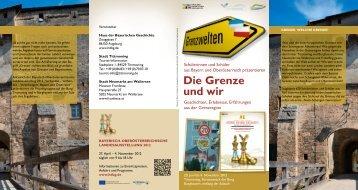 Die Grenze und wir - Haus der Bayerischen Geschichte