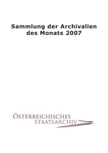 Archivale des Monats - Österreichisches Staatsarchiv