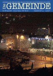'Die Gemeinde' Juni 2007 als pdf herunterladen - Israelitische ...