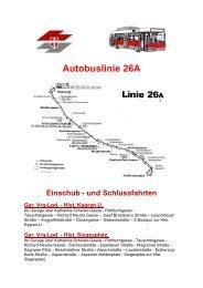 Autobuslinie 26A Einschub - und Schlussfahrten Gar. Vrg-Lpd.