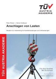 Anschlagen von Lasten - TÜV Austria Akademie