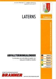 Abfallterminkalender - Gemeinde Laterns