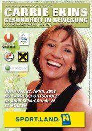 SONNTAG, 27. APRIL 2008 NÖ LANDESSPORTSCHULE Dr. Adolf ...