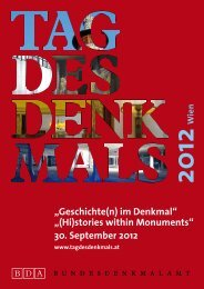 """Geschichte(n) im Denkmal"" ""(Hi)stories within Monuments"" 30 ..."