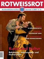 ROTWEISSROT Ausgabe I/2011 - Auslandsösterreicher-Weltbund