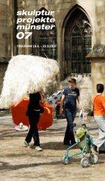 Juni bis Oktober 2007 SKULPTUREN landschaft - Skulptur Projekte ...