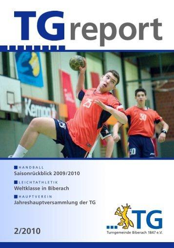 TG-Report 2 / 2010 als pdf-Datei (ca - TG Biberach