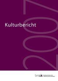 Kulturbericht 2007 - Kulturleben.at