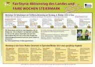 FairStyria-Aktionstag des Landes und FAIRE WOCHEN ... - ETC Graz