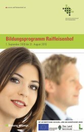 Kreatives Gestalten - Bildungszentrum Raiffeisenhof