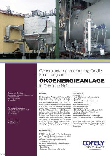 ÖKOENERGIEANLAGE - COFELY Gebäudetechnik GmbH