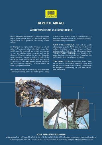 BEREICH ABFALL