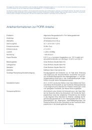 Anleiheinformationen zur PORR-Anleihe - Börse Frankfurt