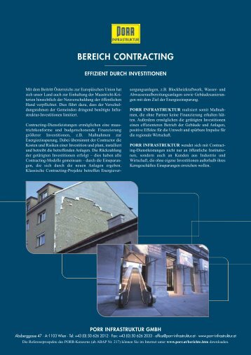 BEREICH CONTRACTING