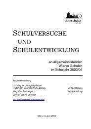Schulversuche an allgemein bildenden Wiener Schulen im