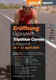 Eröffnung Gigasport Triathlon Corner in Klagenfurt 16. + 17. April 2010