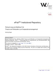 ePub Institutional Repository - Epub WU Wien ...